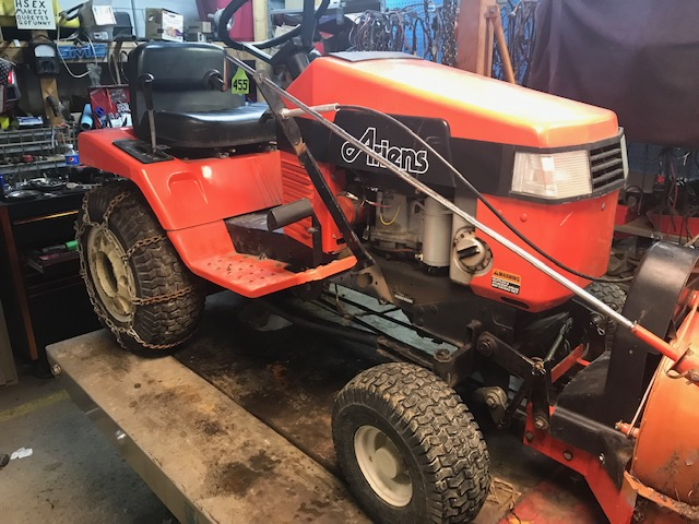 Used Ariens Gt17 Rider With Mower Deck And Two Stage