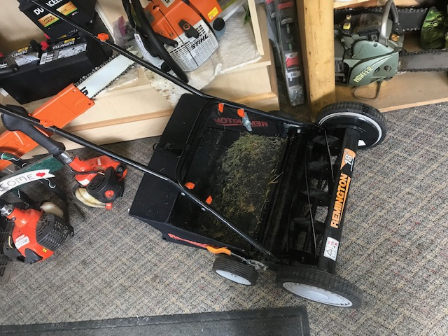 Used Remington Reel Push Mower With Bagger For Sale - HDR