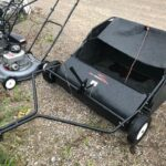 Used Brinly Pull Behind Lawn Sweeper For Sale $125.00